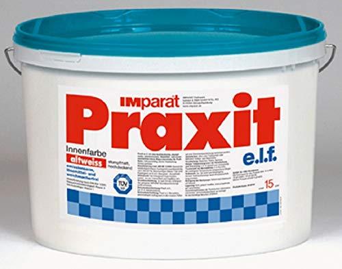 IMparat PRAXIT e.l.f Profi Wandfarbe Klasse 1 Profi Innenfarbe Innen ALTWEIß 15 L