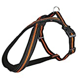 Trixie Fusion Touren-Geschirr Regulierbaregeschirre Hundegeschirre Hunde (S(35-50 cm/25 mm), Schwarz/Orange)