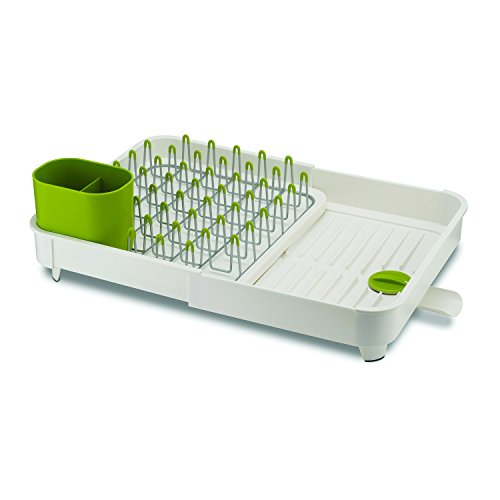 joseph-joseph-estante-para-platos-ampliable-con-drenaje-enchufe-blanco-verde