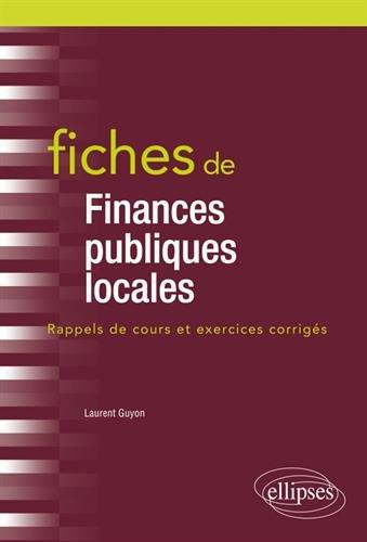 Fiches de Finances publiques locales par Laurent Guyon