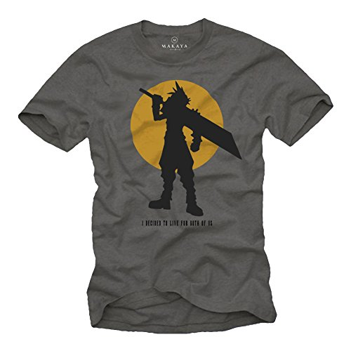 Gamer Nerd Geschenke - Fantasy T-Shirt - I Decided to live for Both of us - final grau L
