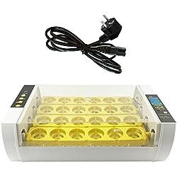 Braylon Incubadora De Pollitos 24 Huevos Automáticos Incubadora Digital Control Automático De Temperatura para Pollo Aves de Corral Codornices Huevos para incubar Huevos/para experimentación
