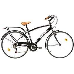 Moma - Bicicleta Paseo Citybike SHIMANO. Aluminio, 18 velocidades