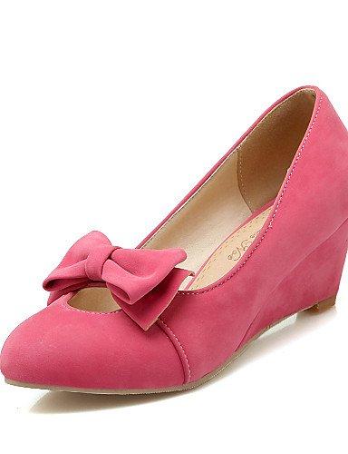 WSS 2016 Chaussures Femme-Bureau & Travail / Décontracté-Noir / Jaune / Rouge / Beige-Talon Compensé-Compensées / Bout Arrondi-Chaussures à Talons- black-us10.5 / eu42 / uk8.5 / cn43