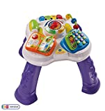VTech Play & Learn Baby Activity Table, Baby Play Centre, Educational Baby Musical Toy with Shapes Sorting, Sound Toy with Music Styles for Babies & Toddlers From 6 Months+, Boys & Girls, Purple