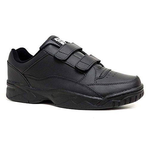Mens New Leather Wide Fit Hook & Loop / Lace Up Walking...