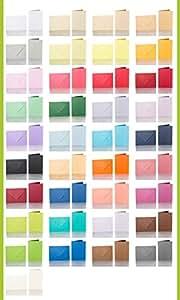 1 hochwertiger Briefumschlag, Umschlag B6 + 1 hochwertige Doppelkarte, Faltkarte 12x17 cm; Farbe hier: ZARTCREME (1. Reihe, 2. Bild /v. l.)