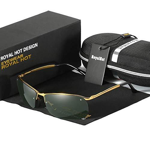Royal hot rahmenlose coole metalllegierung polarisierte uv400 sonnenbrillen brillen