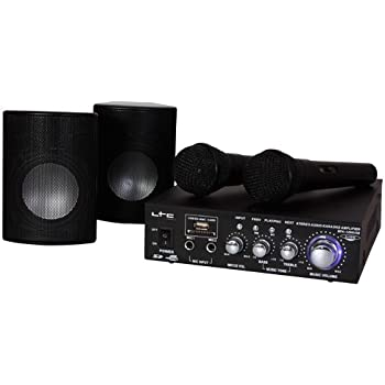 karaoke set verst rker 200w mit 2 boxen 2 mikrofone usb sd. Black Bedroom Furniture Sets. Home Design Ideas