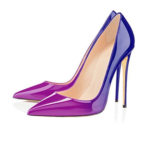 A Dell'ago Tacchi Dimensioni Donne Donne Grandi Scarpe Spillo Tacco Ubeauty Di blu Scarpe Viola Tacco aPwwnxFAH