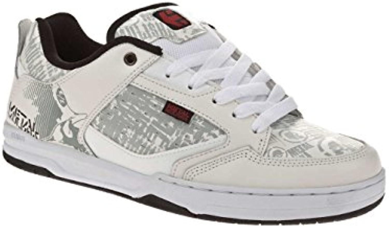 Etnies Metal Mulisha Cartel, hombre cordones Zapatos, blanco, negro, rojo, 6,5  -