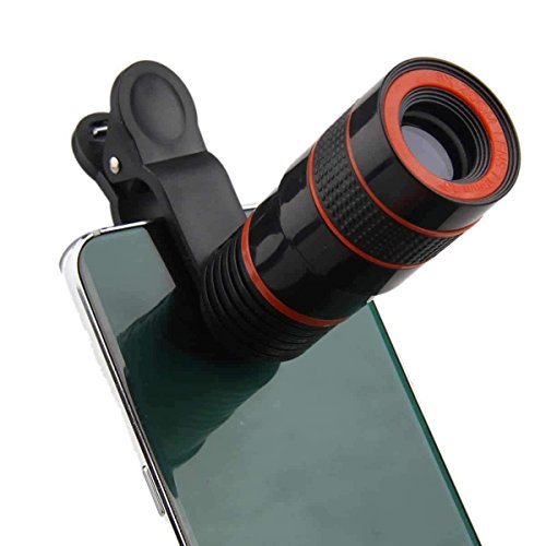 I-Sonite (schwarz 8X Zoom Universal Optische Lupe Teleskop Telefon-Kamera-Objektiv-Kit, Manueller Fokus auch für Fit for Verizon Ellipsis 8 Zoom Verizon Wireless