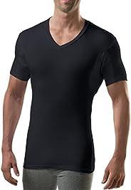 Sweatproof Undershirt for Men with Underarm Sweat Pads (Slim Fit, V-Neck)