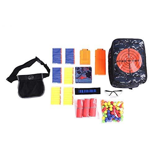 VGEBY1 Zieltasche Aufbewahrungsrucksack, Tactic Shooting Bag Game Kit mit Ballsack, Waschhandschuh, Brille, Armband, Patronenklammer, Zylinderzielscheibe, Apollo Ball, Soft Bullet