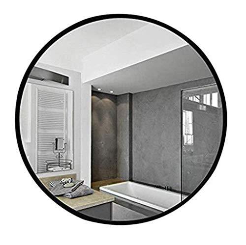 Spiegel - runder Badezimmerspiegel aus Schmiedeeisen, an der Wand befestigter schwarzer Schminkspiegel 60/70 / 80cm (größe : 70cm) - Wand-wetter Rahmen