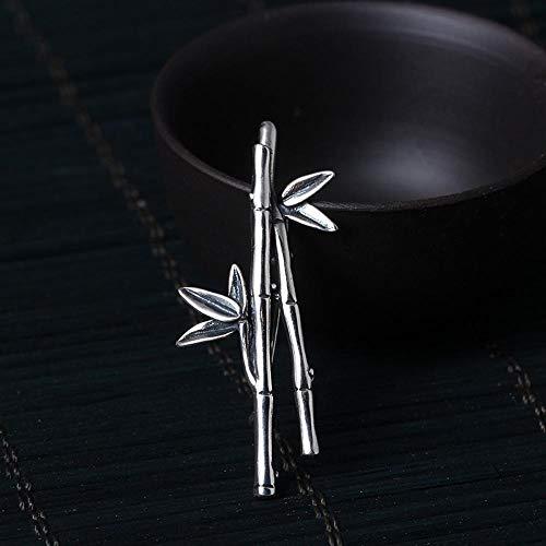 Circlefly Einfache Art und Weise s925 Sterlingsilber handgemachte alte Bambus Brosche Damen...