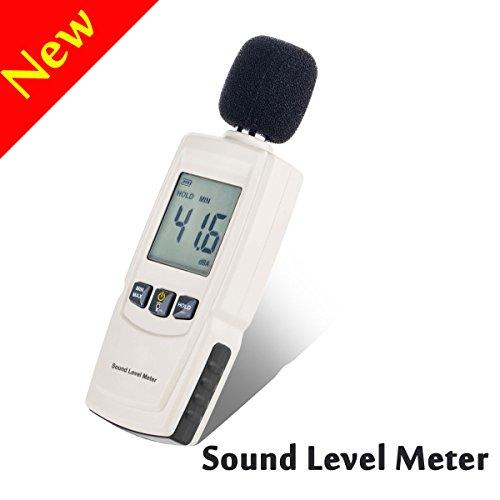 Decibel Meter, w-unique Hand Sound Level Meter 30~ 130dB Dezibel Lärm Messung Tester für Innen/Outdoor Anwendungen mit LCD-Hintergrundbeleuchtung