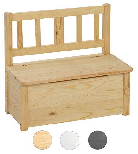 BOMI Aufbewahrungsbox groß mit Deckel Baby aus Kiefer Massiv Holz für Kleinkinder ab 24 Monate bis 10 Jahre | unbehandelt & unlackiert