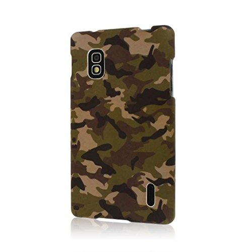 MPERO SNAPZ Series Gummierte Case Tasche Hülle for LG Optimus G E970 - Grün Camo (Case Lg Handy E970)