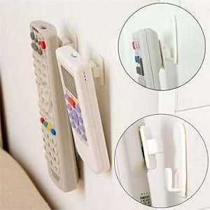 2 ensemble tv télécommande de la climatisation collant crochet auto-adhésive capteur de paroi de support de suspension forte