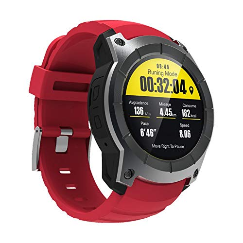 PXYUAN Schlaf-Monitor Smart Watch für Android iOS Phone wasserdichte Pedometer-Uhr, Schrittzähler, Kinder Frauen Männer-red Kamera Vergleich-chart