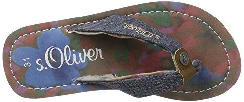 s.Oliver Unisex-Kinder 47100 Zehentrenner, Blau (Navy 805), 35 EU -