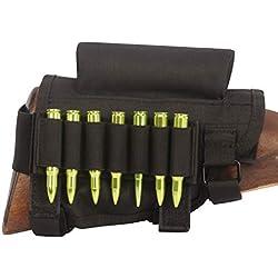 Tourbon Chasse Fusil Buttstock Cheek Riser munitions Laser support - noir