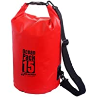 Karana Ocean Dry Pack Day Waterproof Travel Kayak Bag 15 Litre 15L Red