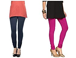 Roop Trading Co girls cotton material, churidar full length legging style, Magenta-navyblue colour size available- XL,XXL,XXL