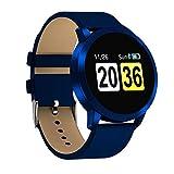 WETERS Fitness Tracker Aktivität Tracker Uhr Herzfrequenz Blutdruck Blutsauerstoffmonitor wasserdicht Sport Armband(blau)