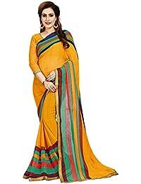 6436ddf9de8363 Nivah Fashion Women's Georgette Multi-colored Saree with Blouse Piece (Kp14- Yellow)