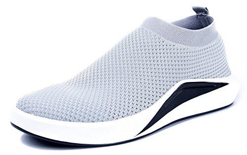 AgeeMi Shoes Uomo Tirare Slip On Running Sneaker Grigio