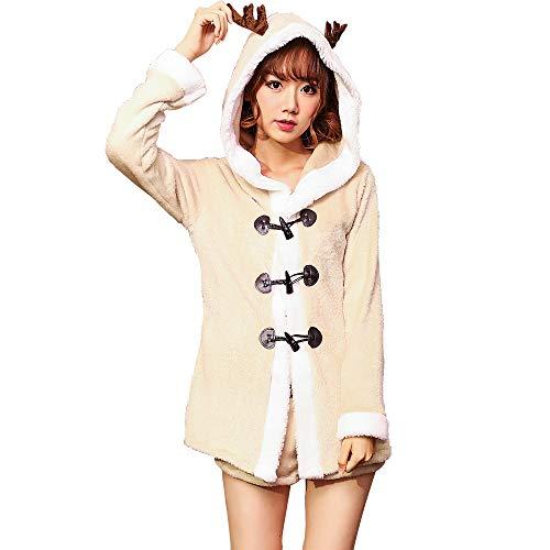 8 spielerische Fawn Kleid Khaki Retro Kleid Weihnachten Weihnachtsfeier setzen lässige Pyjama ()