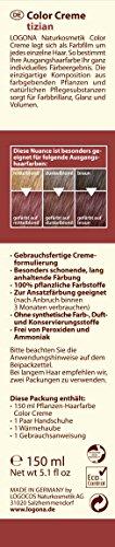 LOGONA Naturkosmetik Coloration Pflanzenhaarfarbe, Color Creme - 220 Tizian - Rot, Natürliche & pflegende Haarfärbung (150g) - 2