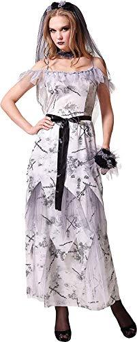 Kostüm Komplette Zombie - Erwachsene Weihnachten Verkleidung Kostümparty Zombie Corpse Bride Damen komplettes Kostüm UK