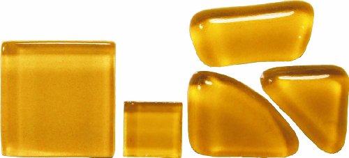 Bastelmaxi Glasmosaik Soft Glas 2 x 2 cm, ca. 55-Stück, 200g, hellbraun - 2 X 2 Mosaik