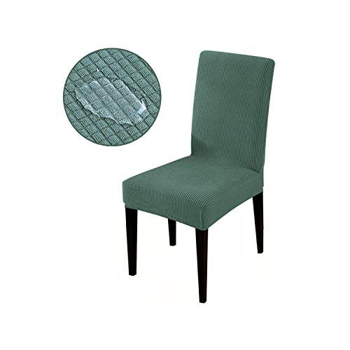 HGblossom Wasserdichtes gewebe Jacquard super weich und ölbeständig Stretch stuhlabdeckung sitzbezüge schonbezüge für Hotel bankett grün universal größe -