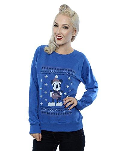 Disney Donna Mickey Mouse Scarf Christmas Felpa X-Small Blu reale