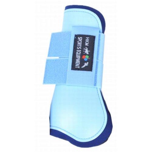 HKM 561185 HKM Springgamaschen Softopren für Vorderbeine, Vollblut/Warmblut, babyblau/dunkelblau