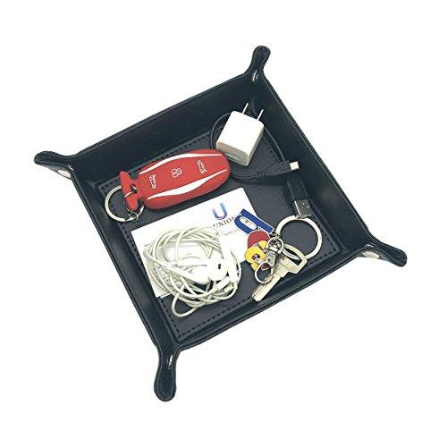 unionbasic Totalmente Piel Sintética Jewelry catchall clave teléfono Coin caja bandeja de cambio Caddy Caja de almacenamiento para mesita de noche