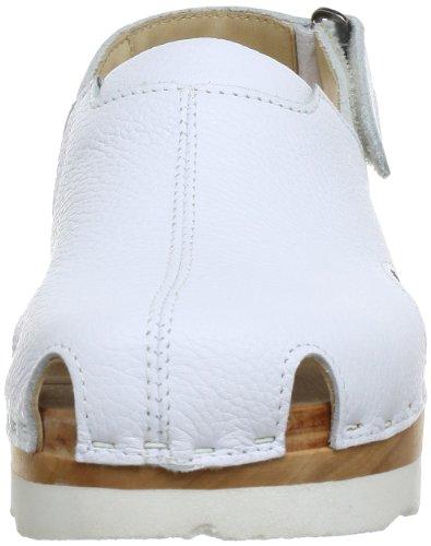 Woody 222/23D, Mules femme Blanc (Sport Nappa Weiß)