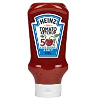 Heinz™ Tomato Ketchup, 50% Less Sugar & Salt, Top Down Squeezy Bottle, 400ml