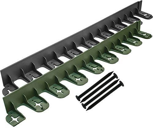 Stella Vert Flexible Jardin et pelouse Edge - 60 mm de Hauteur 80cm x 6cm High Noir