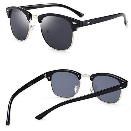 Kjwsbb Polarisierte Horn umrandeten halbe Rahmen Sonnenbrille für Männer halbrandlose Frauen Sonnenbrillen Klassische männliche polarisierende Brillen