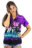 V.H.O. Funky Hawaiihemd Hawaiibluse, Beach, violett, XXL