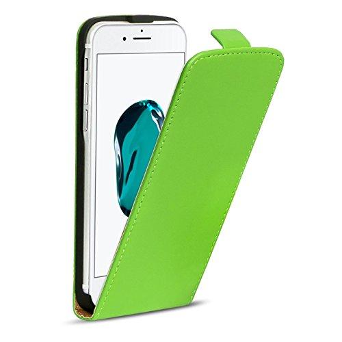 Premium Schutzhülle für - iPhone 7 Plus - Hülle Flip Case Wallet Tasche aus PU Leder Farbe: Grün Grün