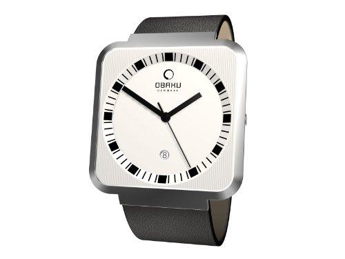 Obaku Harmony - Reloj analógico de cuarzo para hombre con correa de piel, color negro