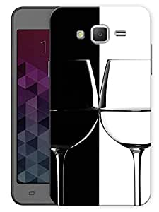 "Humor Gang Wine Glass Black White Printed Designer Mobile Back Cover For ""Samsung Galaxy j2"" (3D, Matte Finish, Premium Quality, Protective Snap On Slim Hard Phone Case, Multi Color)"