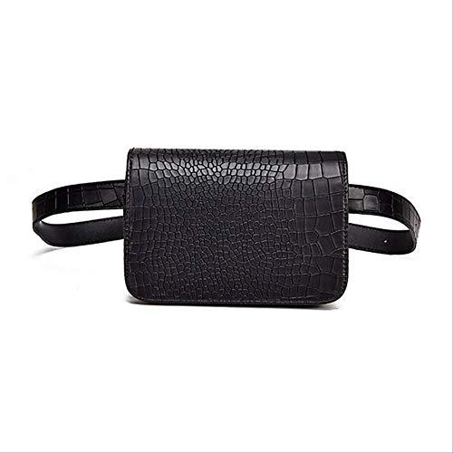 Xshiyq krokodil gürteltasche Frauen Leder pu verstellbare gürteltasche gürteltasche Brieftasche 18 * 5c * 12cm schwarz -