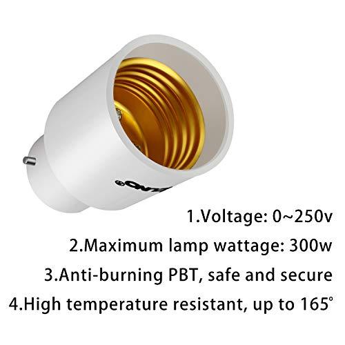 DiCUNO E40 /à E27 Convertisseur de sockets Adaptateur de 4 prises Adaptateur de base de lampe de haute qualit/é pour ampoules LED et ampoules /à incandescence et ampoules CFL